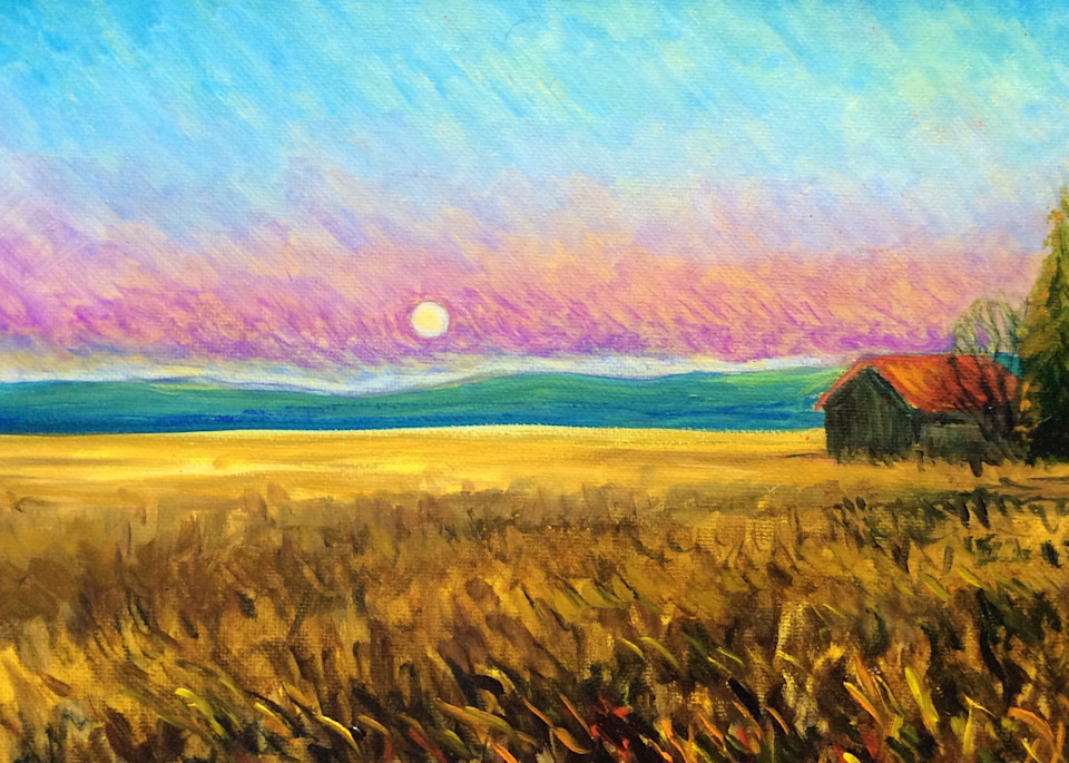 Early evening in autumn on the farm Fine Art Open Edition Print