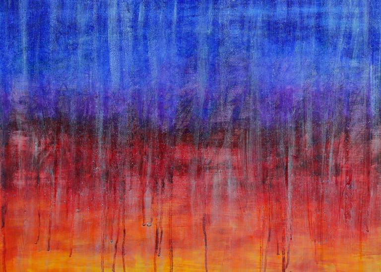 Rainy Moment 06   Rain At Dawn Art   Rachel Brask Studio, LLC