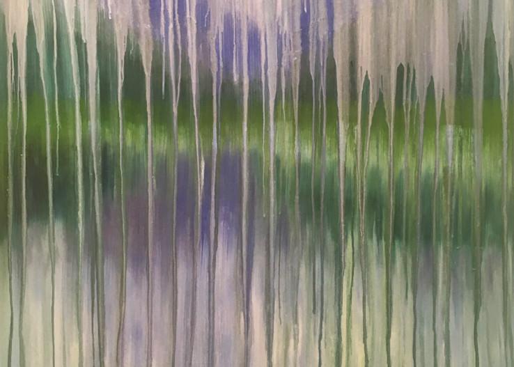 Rainy Moment 15   Lakeside Mountain Rain Art | Rachel Brask Studio, LLC