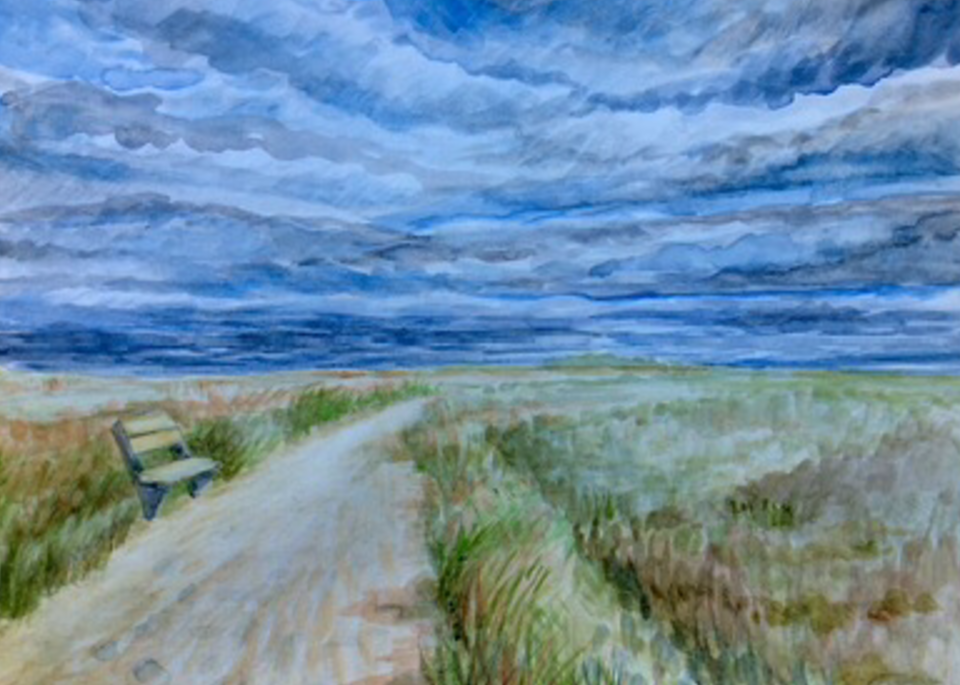 Stormy Clouds over the Cape Fine Art Print by Hilary J. England