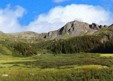 Deer Park print of photograph of Deer Park, San Juan Mountains, Colorado for sale as digital art by Maureen Wilks
