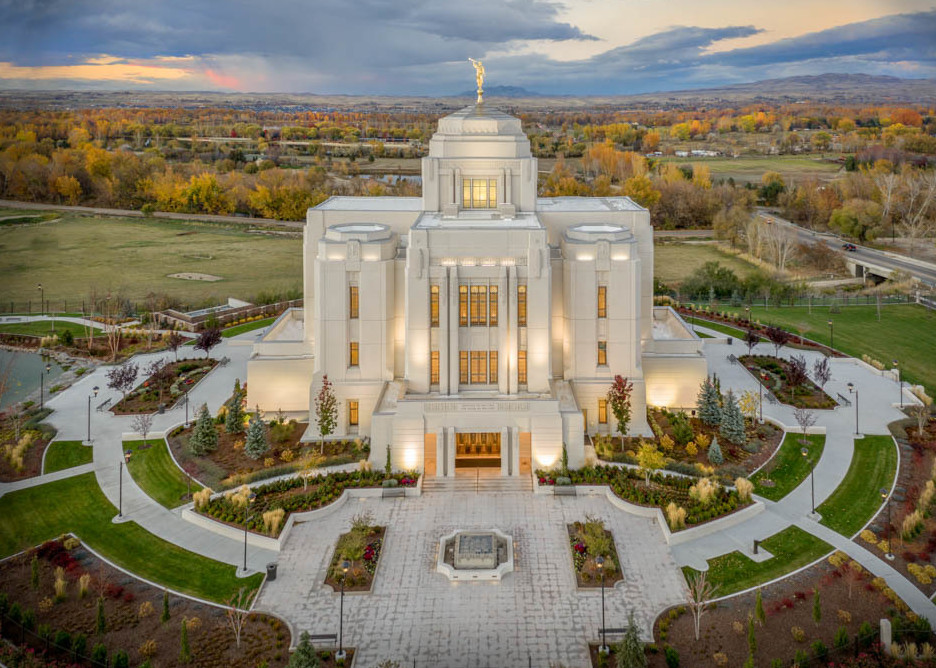 Meridian Temple - From Above in Autumn
