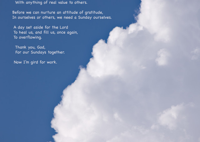 """Inspired Clouds - """"Sunday Yes"""" quote - shop prints   Closer Views"""
