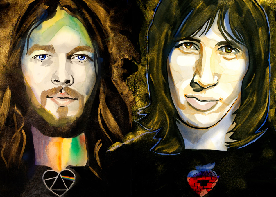 Pink Floyd   David Gilmour, Roger Waters Art   William K. Stidham - heART Art