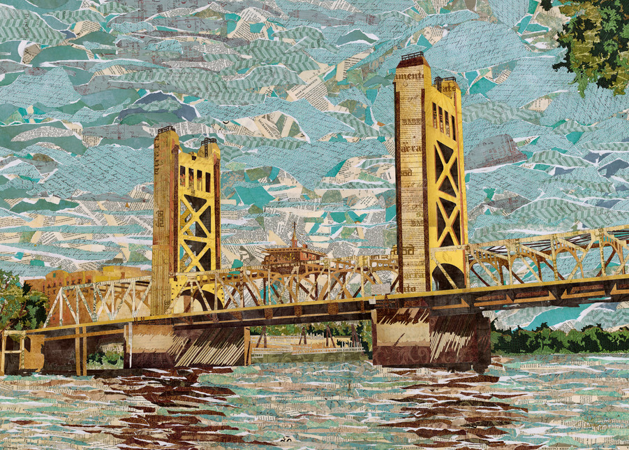 Tower Bridge, Sacramento, Ca Art | The Reclaimist