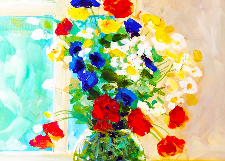 Floral Still Life In The Window  Art | Charles Wallis