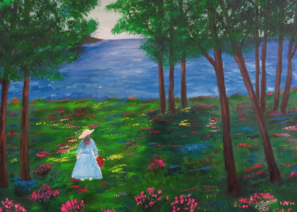 Path Of Flowers Art   Artist Ron Turner