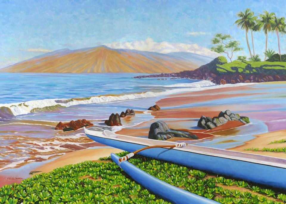 Blue Outrigger on Polo Beach