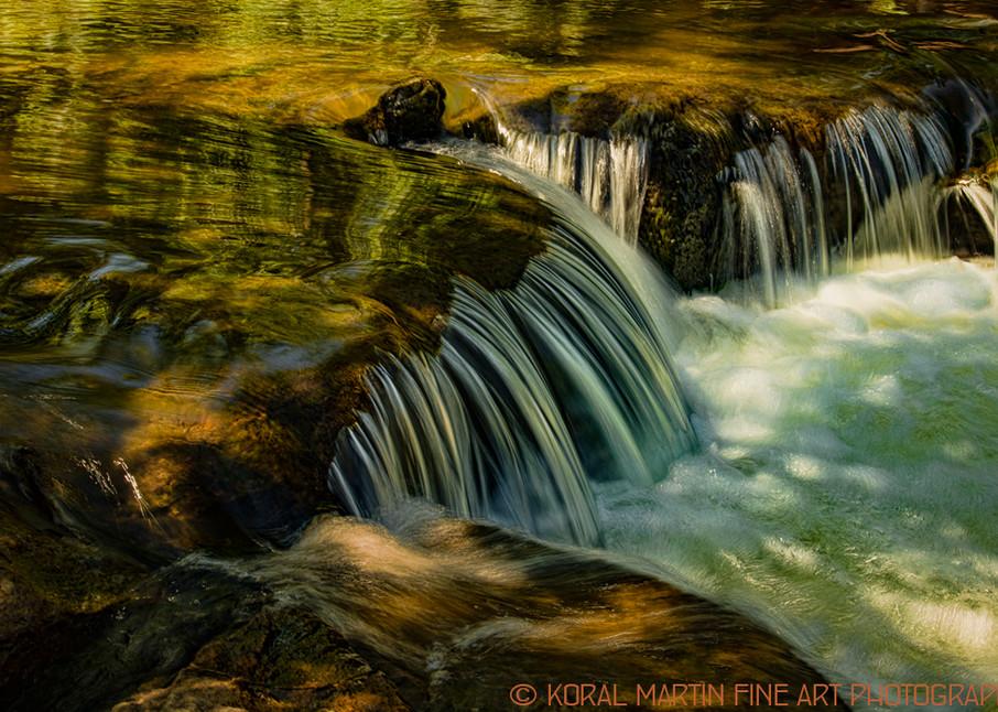 Small Falls Cascade Photograph 2349   Waterfall Photography   Koral Martin Fine Art Photography