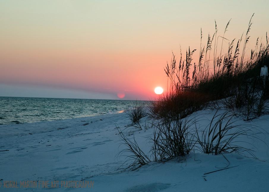 Ocean Sunset on Beach Photograph 1193 FL    Florida Photography   Koral Martin Fine Art Photography