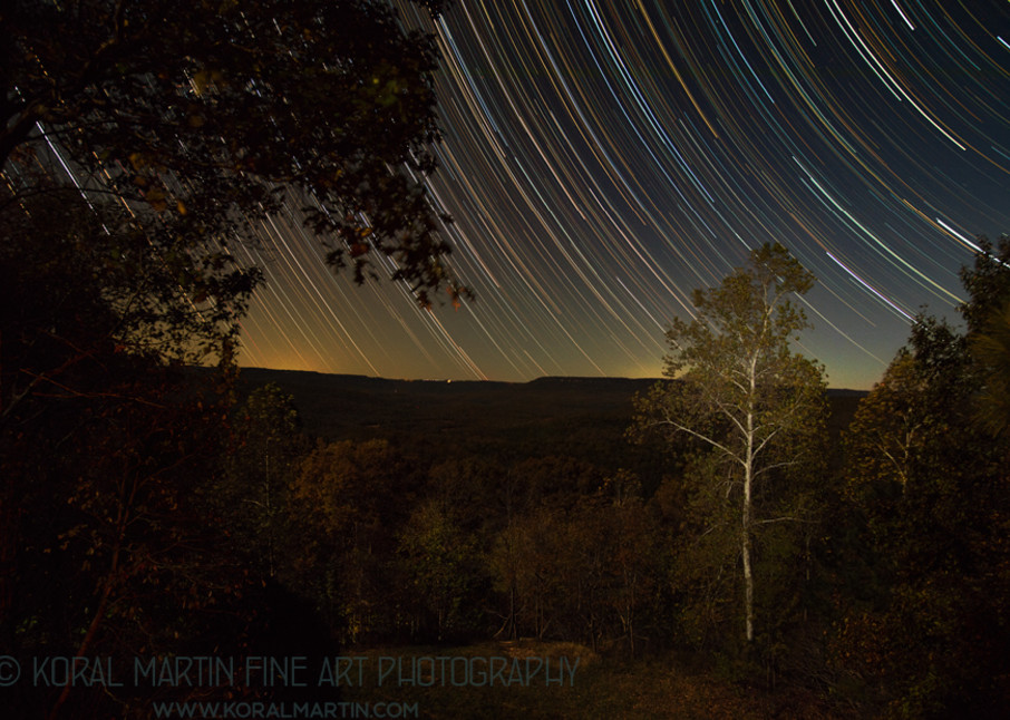 Star Tracks Photograph 6115 Boxley Valley  | Night Photography | Koral Martin Fine Art Photography