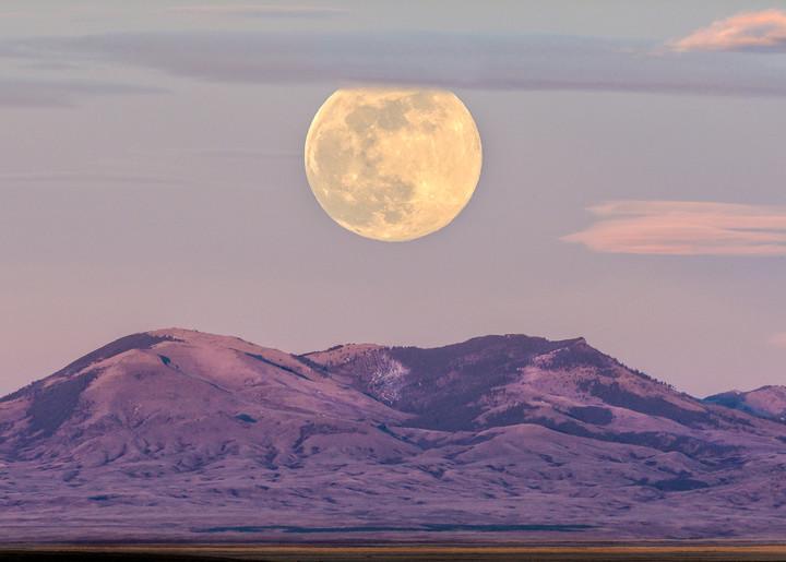 Bear Paw Mtns Moonrise Photography Art | Craig Edwards Fine Art Images