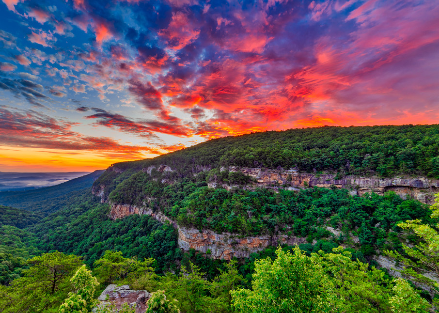 Cloudland Canyon sunrise photography print
