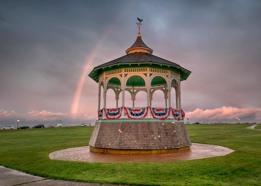 Oak Bluffs Bandstand Rainbow Art   Michael Blanchard Inspirational Photography - Crossroads Gallery