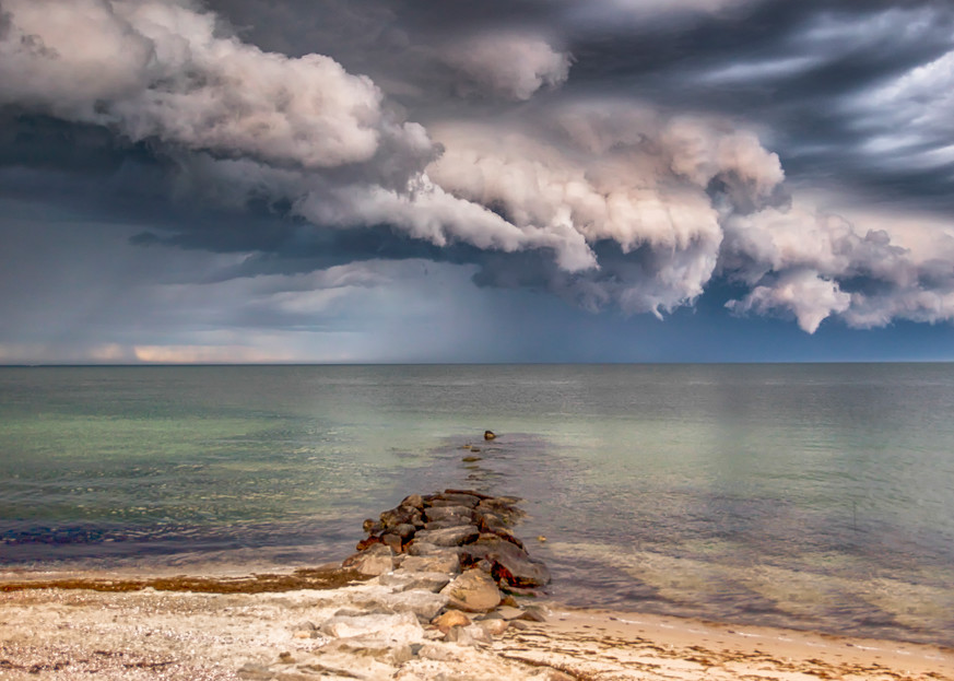 Inkwell Thunderstorm Clouds Art   Michael Blanchard Inspirational Photography - Crossroads Gallery