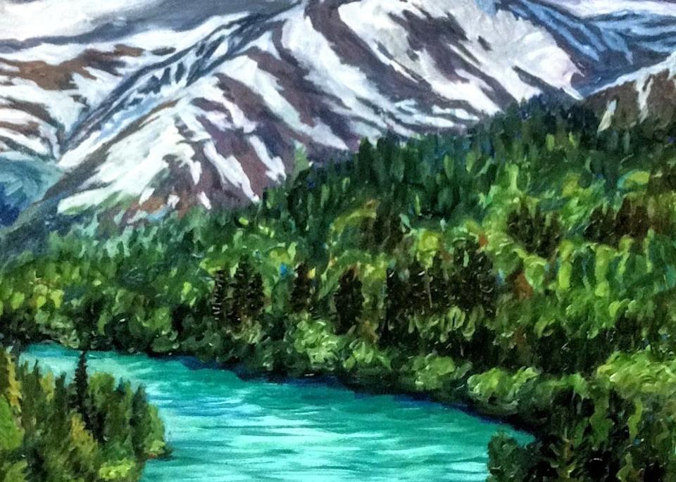 Kenai River Jewels   Alaska Art Print Art   Amanda Faith Alaska Paintings / Estuary Arts, LLC