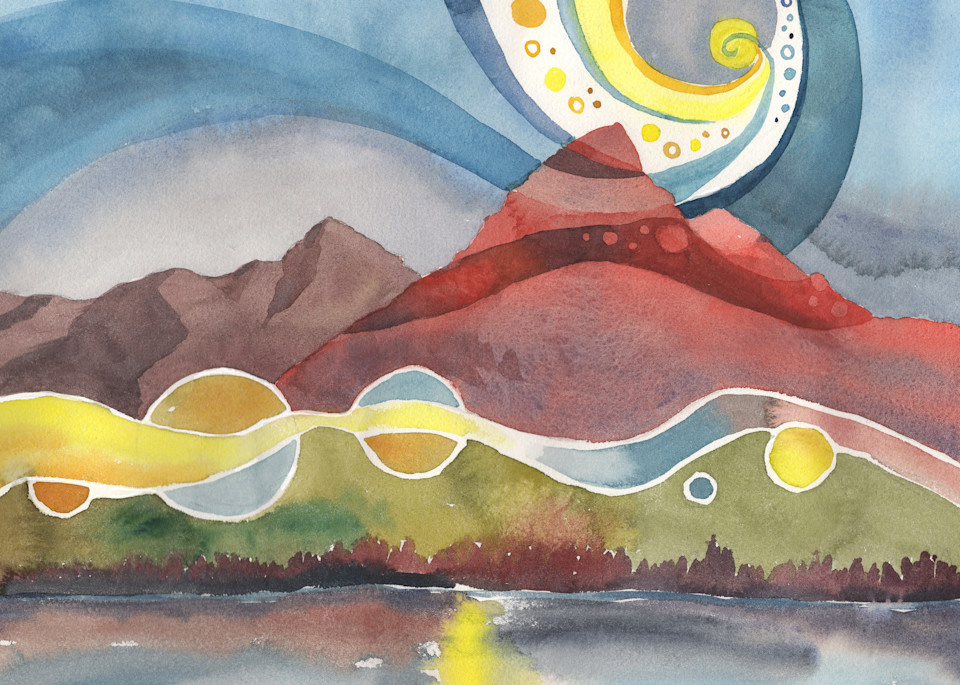 Mountain Morning Song   Alaska Art Print Art | Amanda Faith Alaska Paintings / Estuary Arts, LLC