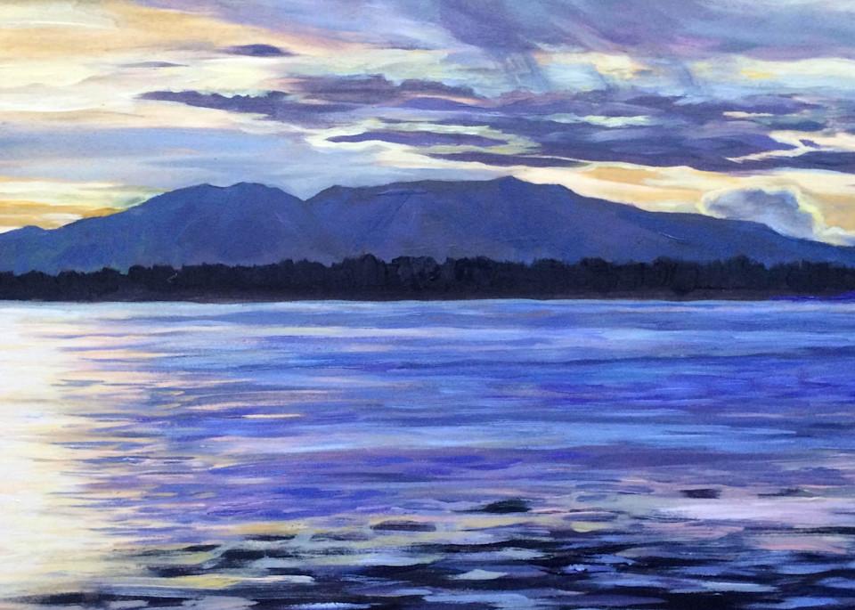 Rope Of Splendor, Mt. Susitna   Alaska Art Print Art | Amanda Faith Alaska Paintings / Estuary Arts, LLC