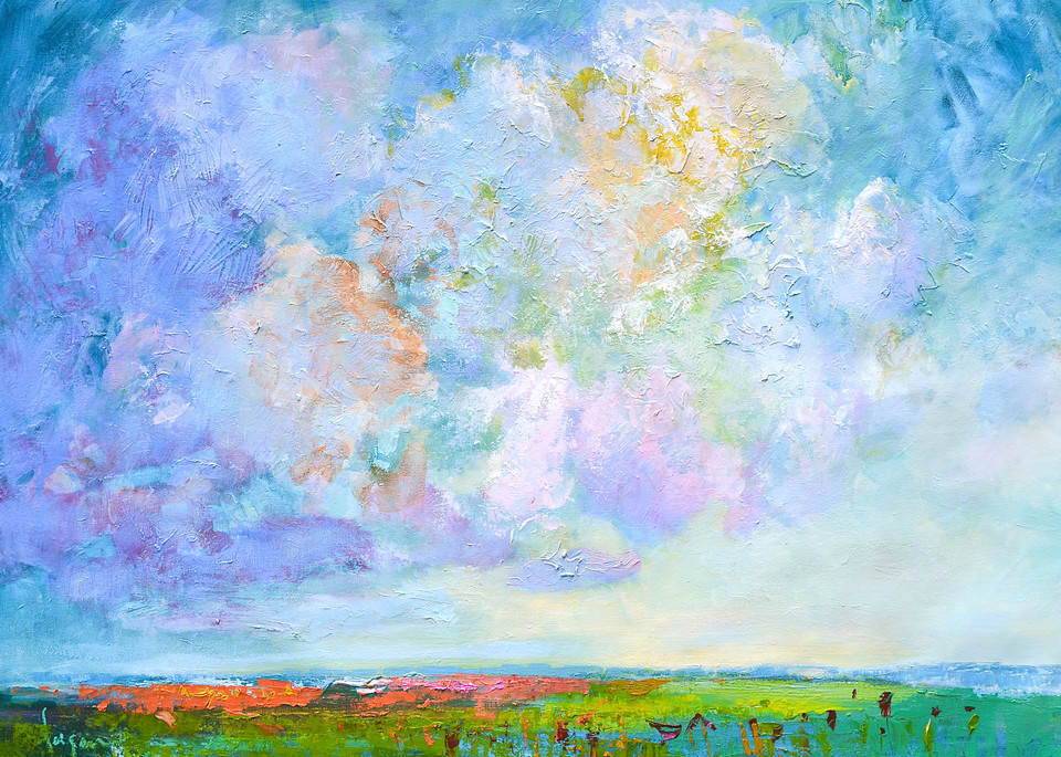 Billowy Clouds Painting Fine Art Print by Dorothy Fagan