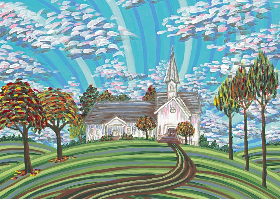 Prairie Hill Church Art   a.dawn art