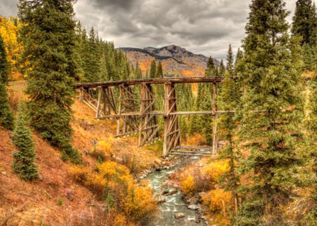 Trout Lake Train Trestle Photograph 8406 | Historical Colorado Photography  | Koral Martin Fine Art Photography