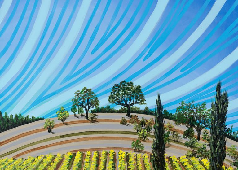 Fall At Porter Creek Vineyards Art | a.dawn art
