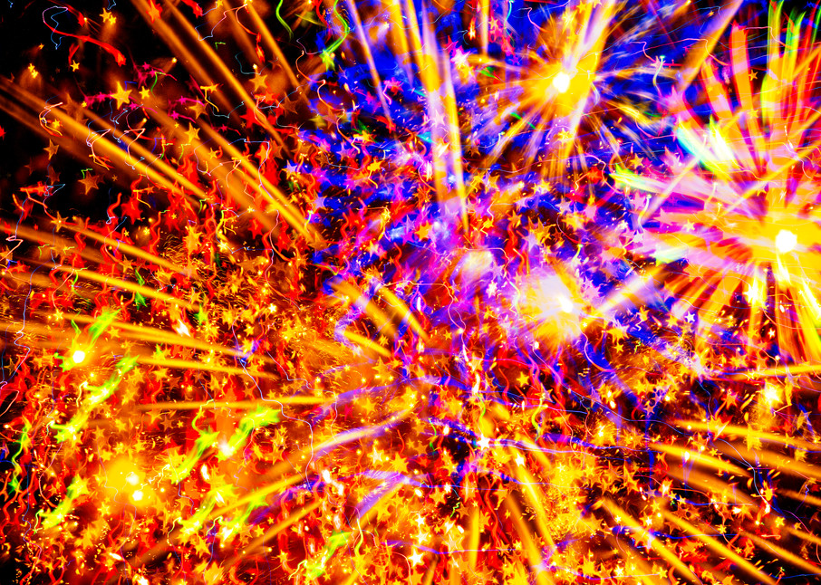 Expansion Fireworks with a star filter