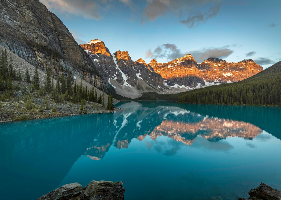 A Moraine Morning Photography Art | OurBeautifulWorld.com