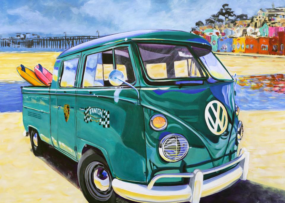 Capitola Beach Vw Crewcab Art | Telfer Design, Inc.