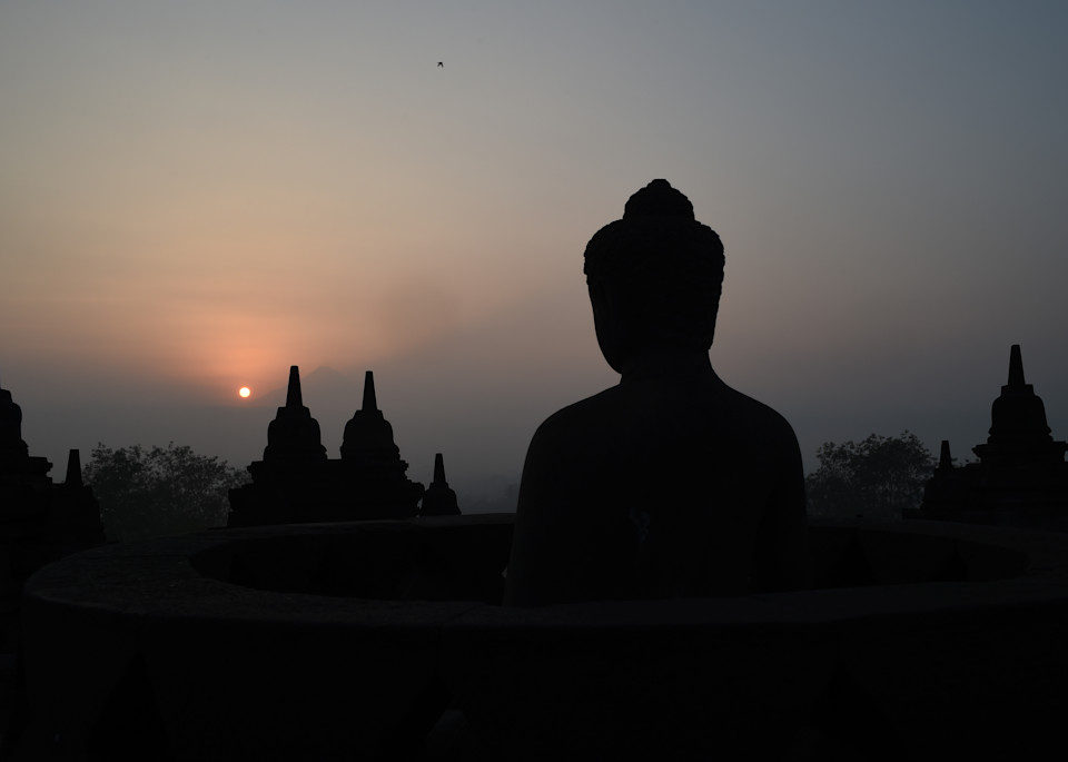 Borobudur Sunrise  Java, Indonesia Photography Art | Brian Ross Photography