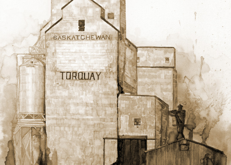 Torquay Elevators - Coffee Painting