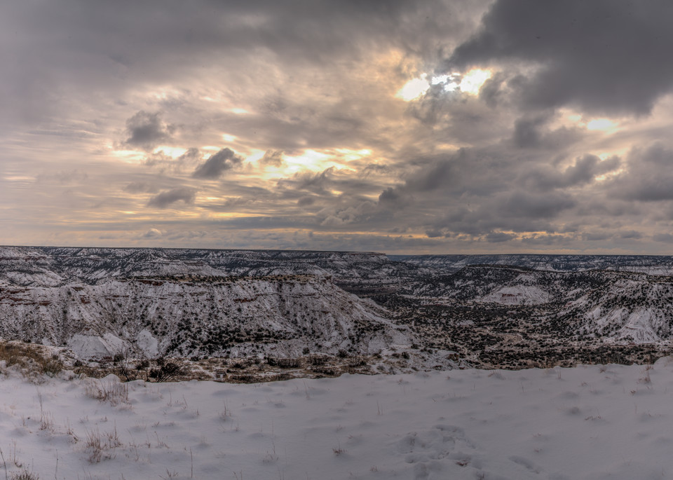 Snow on the Over Look, by Jim Livnigston