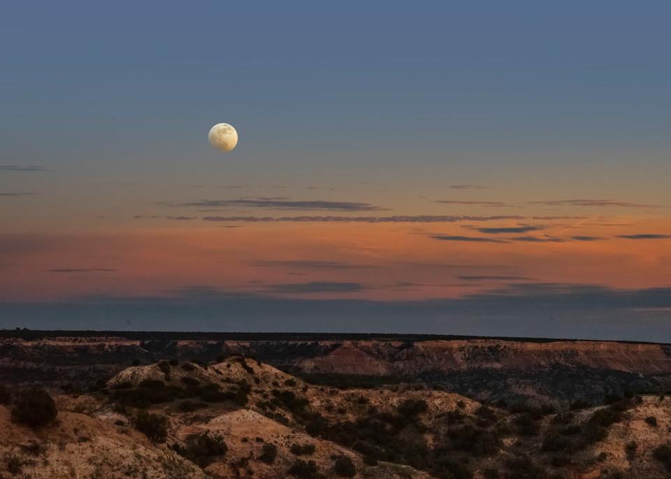 Palo Duro Moon Rising in Texas