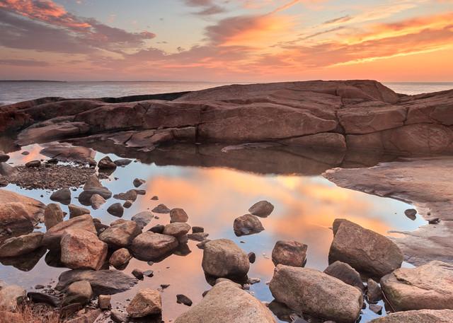 """""""Tidepool Sunrise I"""" Narragansett RI Coastal Ocean Photography"""