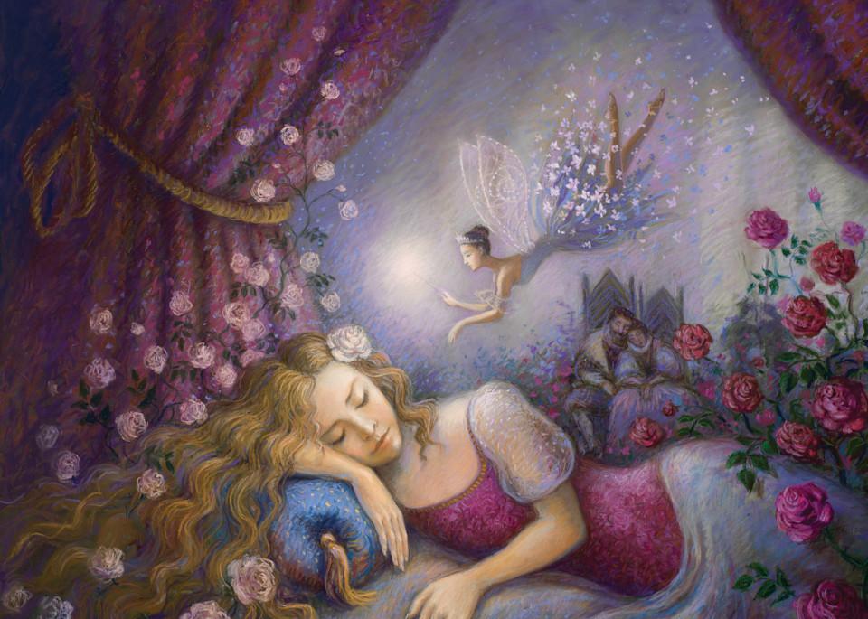 pastel, print, sleeping, beauty, ballet