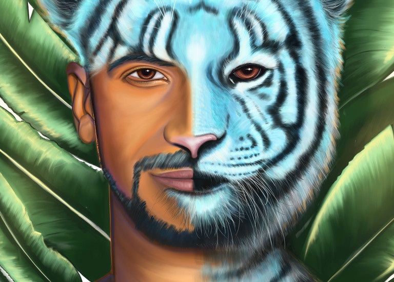 Tiger Man  Art | Ekaterina Sky