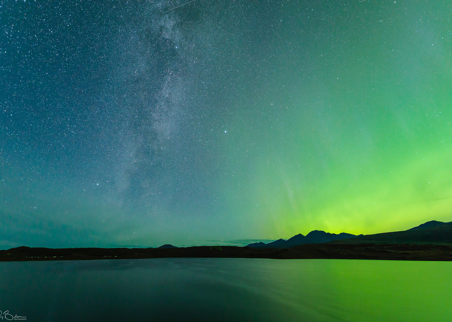 Tangle Lakes Aurora Horizontal Photography Art | Ray Bulson Photography