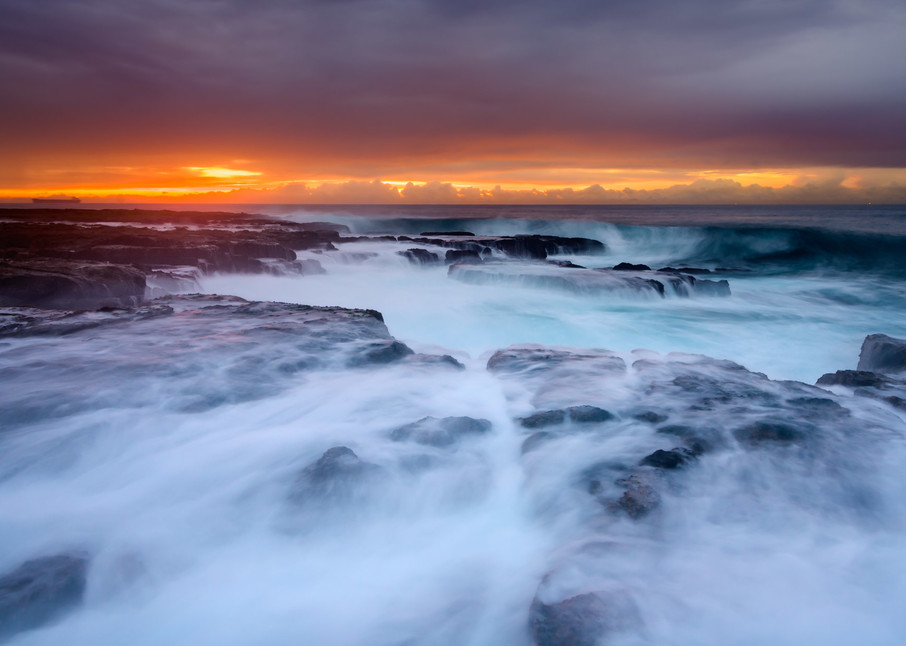 Draining Seas - Newcastle Ocean Baths NSW Australia Beach Sunrise