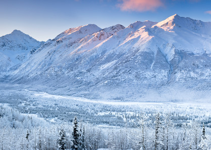 Composite Panorama Of Polar Bear And Eagle Peaks And Hurdygurdy Mountain Overlooking Eagle River Valley In