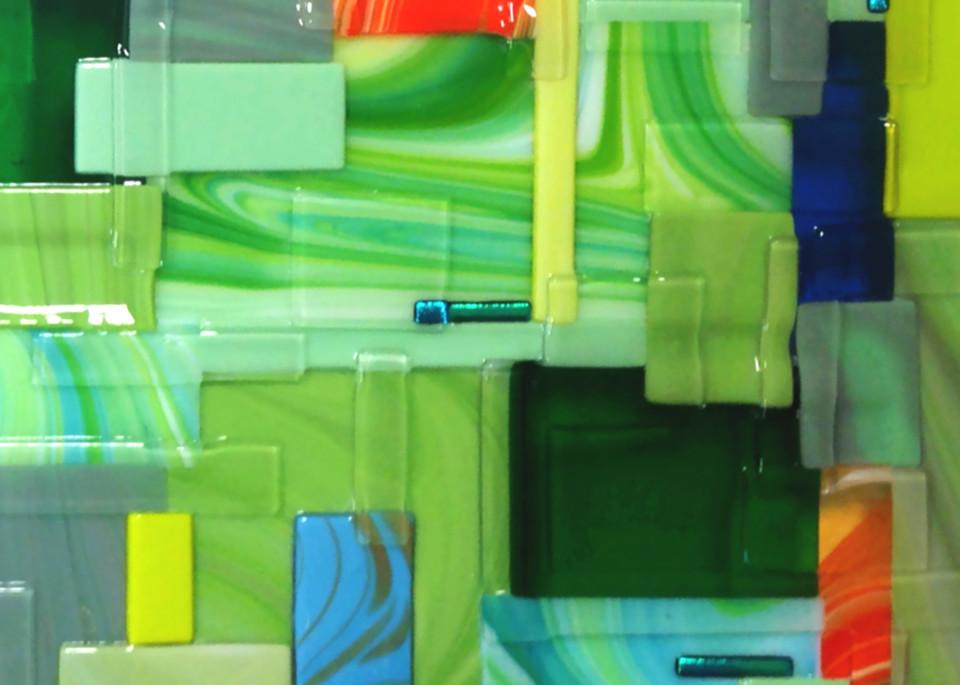 Green Square Right Art | Natalie Ventimiglia Studios