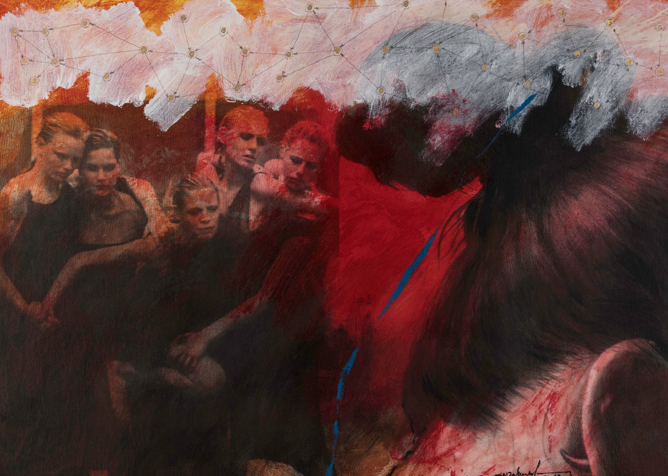 Ruba In Red Fog Art | Mediterranean Fire inc.