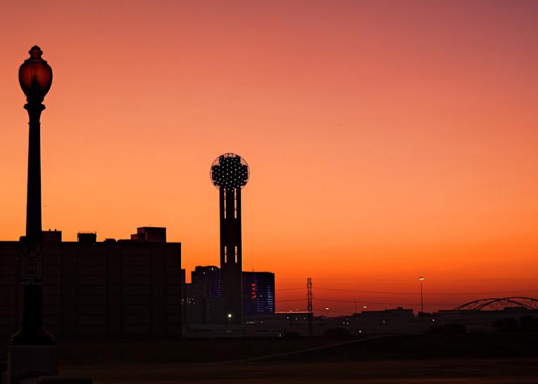 Dallas Skyline At Dawn 3 Photography Art | Drone Video TX