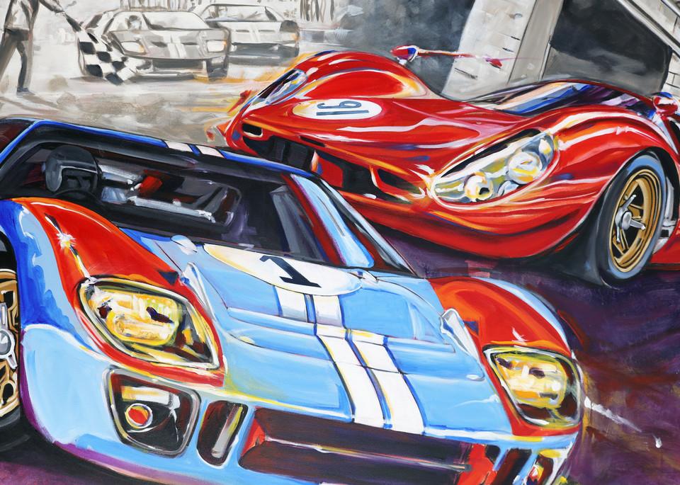 Ford Vs Ferrari  Art | Telfer Design, Inc.