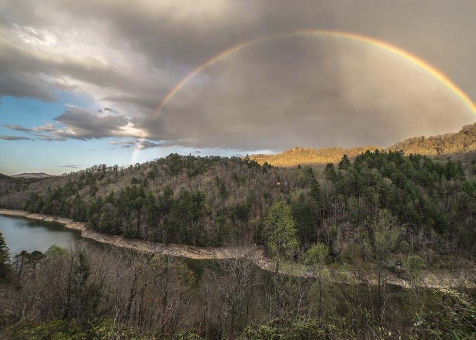 Rainbow Over Lake Fontana Art | Drew Campbell Photography