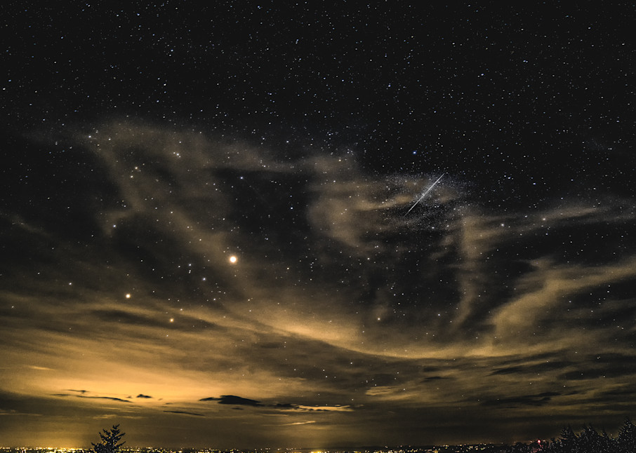 Early Morning Meteor Art | Drew Campbell Photography
