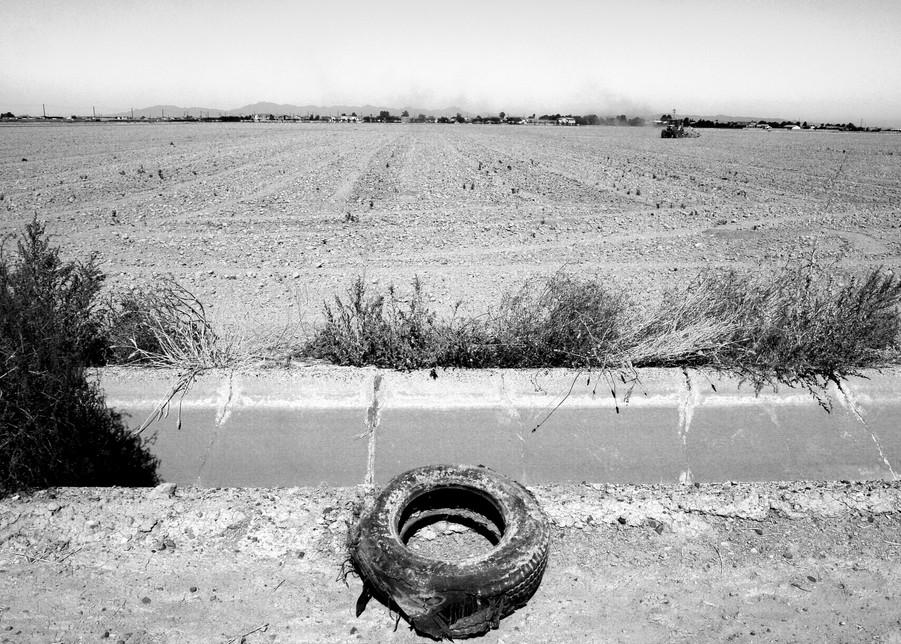 Flat Tire & Dusty Farm Photography Art   Peter Welch