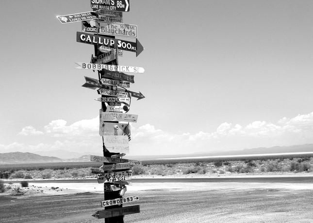 Cross Roads, California Desert Photography Art   Peter Welch