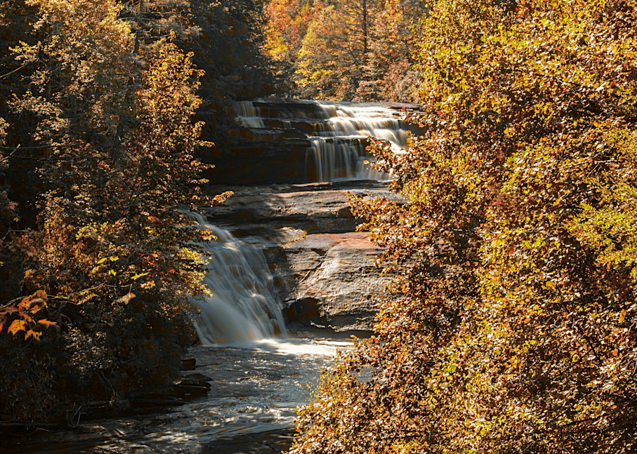 Triple Falls Autumn View Photography Art | draphotography