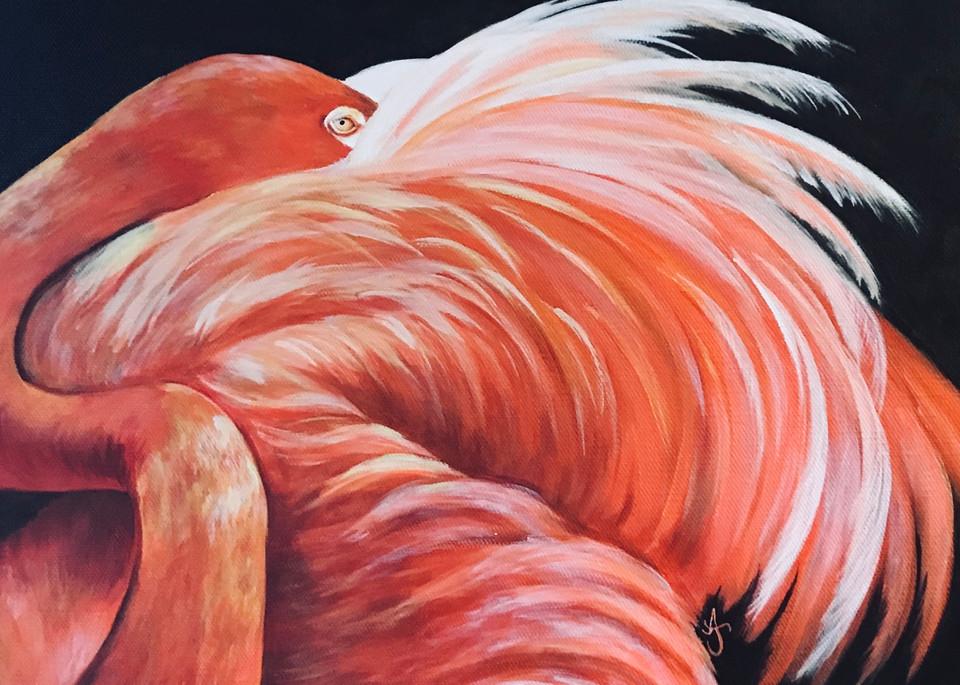 Alice's Flamingo Art | alanajudahart