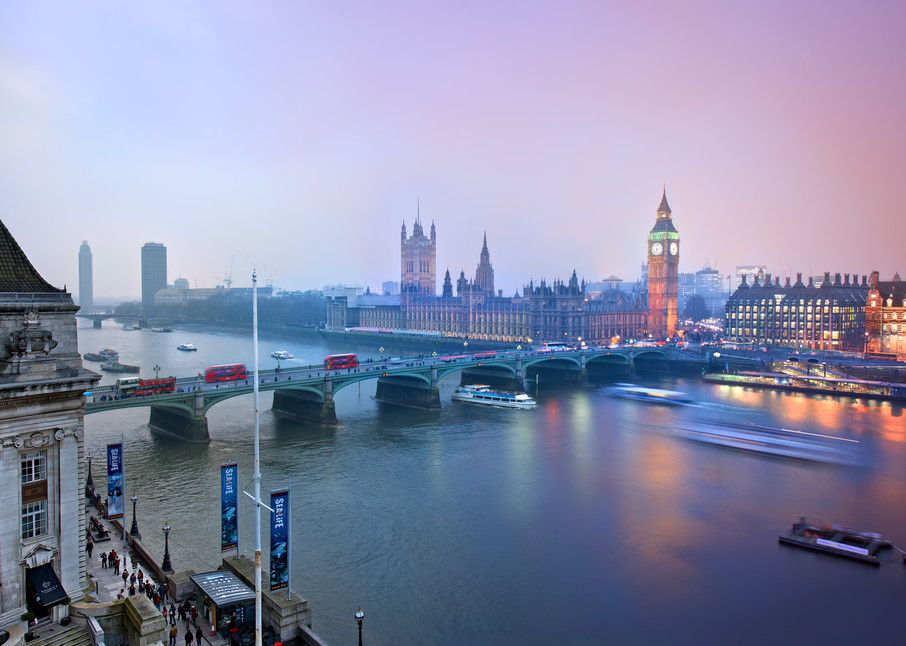 Evening Over Parliament Photography Art | templeimagery